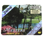 2006 Masters Tournament Series Badge #Q07223 - Phil Mickelson Win