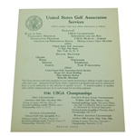 1946 USGA The Green Section Services Letter - Seldom Seen