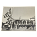 1951 Ryder Cup at Pinehurst Ceremonial Flag Raising Photo - McMahon Collection