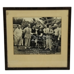 1941 Red Cross Match of Champions in Nassau, Bahama Official Picture - Framed - Bobby Jones Depicted - McMahon Collection