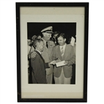 1942 All American Tam OShanter Open Award Ceremony Photo with Byron Nelson - Framed - McMahon Collection