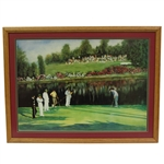 Augusta National Lithographic Print from Watercolor Reflections and Shadows by Edgar Barnett - Framed