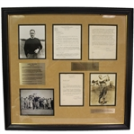 Bob Jones Signed Letter and Signed Photo - Seldom Seen Combo - Framed JSA ALOA