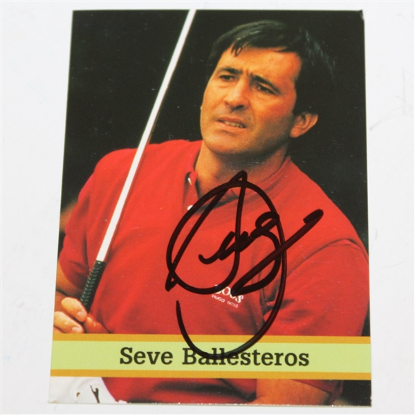 Seve Ballesteros Signed Fax Pax Golf Card No. 2 JSA ALOA