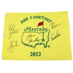2012 Masters Par 3 Contest Flag Signed by Big Three Plus Woods & Mickelson JSA ALOA