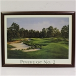 Pinehurst No. 2 Dave Chapple Display Poster - Framed