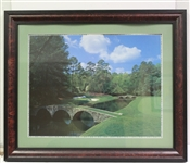2002 Masters Commemorative Poster - Tiger Woods Winner - Framed
