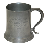 1900 Bristol Golf Club Mixed Handicap Foursome Pewter Tankard - July 14th - Roth Collection