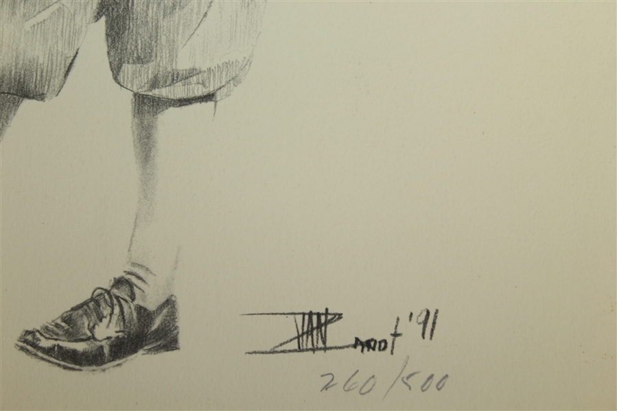 Bobby Jones Ltd Ed #260/500 Van Zandt Signed Drawing JSA ALOA