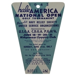 1942 Hale America National Open FINAL ROUND Sunday Ticket HOGANS First Major WIN ? - RARE