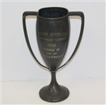 1920 Berkshire CC Championship Tournament Runner-Up Trophy Won by Augusta M. Wagner