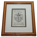 1824 Leith Thistle Golf Club Shield Score Card - May 1st, 1824 - Historic Original Piece
