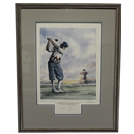 Payne Stewart Signed Ltd Ed 18th at Harbour Town Golf Links Lithograph #433 - Framed JSA ALOA