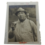 Walter Hagen Original Used Roughing it at St. Andrews Publication Photo - Seldom Seen