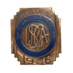 1956 US Open Championship at Oak Hill Country Club Contestant Badge