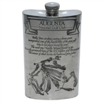 Augusta National Golf Club English Pewter Golf Flask - Good Condition