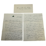 Two Page Handwritten Letter From Anne Baxter(Follow The Sun, Actress) to Ben and Valerie Hogan JSA ALOA