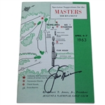 Jack Nicklaus Signed 1963 Masters Spectator Guide - Jacks First Masters Win JSA ALOA
