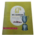 1947 US Open at St. Louis Country Club Program - Lew Worsham Winner