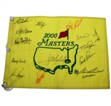 2000 Masters Champs Flag Signed by 15 Champions JSA ALOA