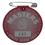 1963 Masters Tournament Badge #140 - Jack Nicklaus Winner - Low Number!