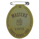 1965 Masters Tournament Badge #10273 - Jack Nicklaus Winner