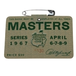1967 Masters Tournament Badge #8630 - Gay Brewer Winner
