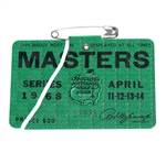 1968 Masters Tournament Badge #12975 - Bob Goalby Winner - Damaged