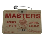 1970 Masters Tournament Badge #13101 - Billy Casper Winner