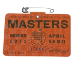 1971 Masters Tournament Badge #15066 - Charles Coody Winner