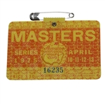 1975 Masters Tournament Badge #16235 - Jack Nicklaus Winner
