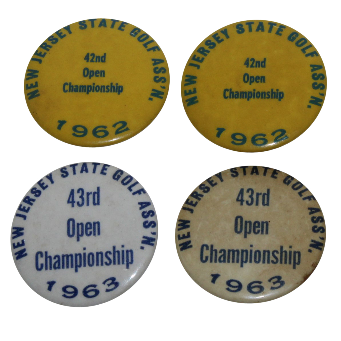 Lot Detail - New Jersey State Golf Assoc  Open Championship Pins