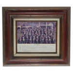 Augusta National Golf Club 1974 Jamboree Members Only Photo - Seldom Seen - Framed