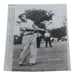 1954 Wire Photo of Arnold Palmer In Action During U.S.G.A. Amateur Win
