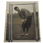 1928 AP Wire Photo of Harrison Johnston in U.S.G.A. Amateur - Won the Following Year