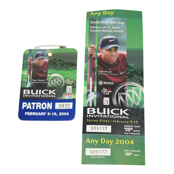 Tiger Woods' Issued Items For 2004 Buick Invitational @ Torrey Pines