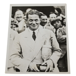 Bobby Jones with Claret Jug from Winning Open at Hoylake in 1930 B&W Press Photo