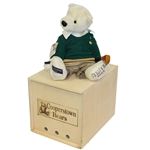 "2005 Masters Cooperstown 16"" Bear with Certificate and Original Wooden Box"