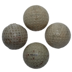 Four Classic Golf Balls - US Three Star, Dunlop England, US Royal Electronic, & Needled