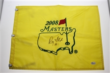 Ray Floyd Signed 2008 Masters Embroidered Flag with 76 Notation JSA #M48118