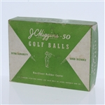 JC Higgins-50 Resilient Rubber Center Dozen Golf Balls - Box Only - Roth Collection