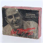 MacGregor Ray Mangrum Vulcanized Latex Cover Dozen Golf Balls - Box Only - Roth Collection