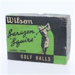 Wilson Sarazen Squire Cadwell Cover Dozen Golf Balls - Box Only - Roth Collection