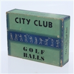 City Club For Particular Men Dozen Golf Balls - Box Only - Roth Collection