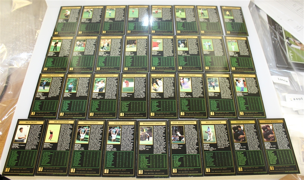 GSV Champions of Golf: The Masters Collection Cards - Thirty One Incl Nicklaus and Woods