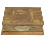 1927 Earl B. Huffamn Trophy Won by Dr. J.E. Hardman Smith Metal Bronze Cigar Box - R. Wayne Perkins Collection