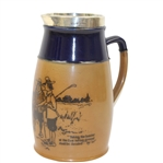 Doulton Lambeth Silver Rimmed Jug - Golf Scene - R. Wayne Perkins Collection