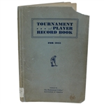 1935 Tournament and Player Record Book Published by the PGA