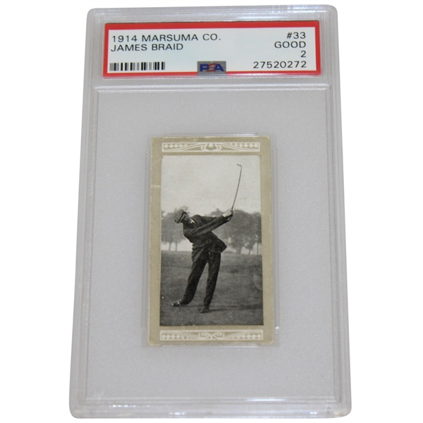 James Braid 1914 Marsuma Cigarette Card - Graded Good & Slabbed PSA #27520272