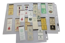 Eighteen Vintage Golf Club Matchbooks - St. Andrews, Pine Valley, Merion Cricket Club, & More